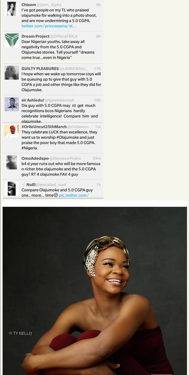 Olajumoke Vs. UNILAG Graduate With 5.0 CGPA  See What Nigerians Are Saying   Fashion   Nigeria