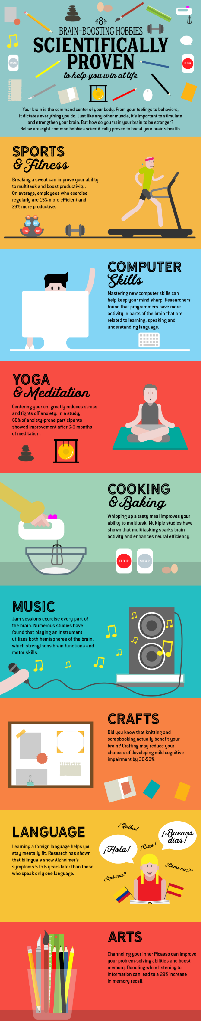 8 Brain Boosting Hobbies to Help You Win at Life  Infographic    Smart.Study Blog